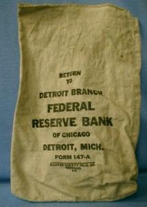 FEDERAL RESERVE BANK Money Bag Detroit Michigan - Misc