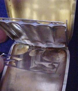 Cigarette Vista Silver Case - Tobacciana/Silver