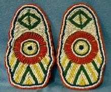 old vintage American Indian Moccasins Tops - Hand Crafted Bead