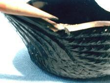 LE Smith Black Glass SWAN Bowl planter