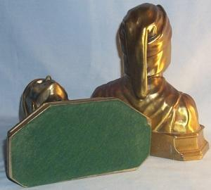 DANTES Brass Finished Bookends - Metalware