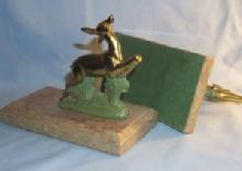 Pompeian Bronze Co. DANTE AND BEATRICE Polychromed Bookends - Metalware