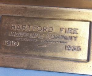 Advertising HARTFORD FIRE INSURANCE COMPANY Elk Bronze Bookends - Metalware