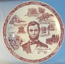 Vernon Kilns  ABRAHAM LINCOLN 16th President Porcelain Comemorative Plate