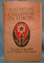 vintage Army Defeat of Germany AMERICAN ENTERPRISE IN EUROPE - The Role of the SOS  - PB Book - paper