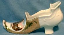 old Porcelain Shoe - Souvenir of Masonic Temple Chicago Ill - porcelain