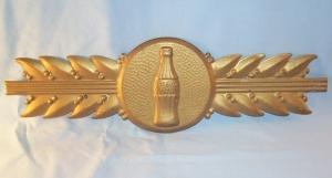 COCA COLA Gold Tin Advertising Sign