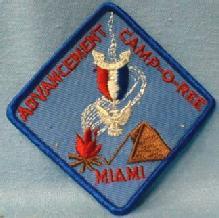 Boy Scouts America  - ADVANCEMENT CAMP-O-REE MIAMI Florida Patch - collectible