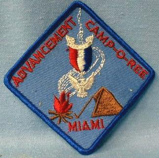 Boy Scouts America  - ADVANCEMENT CAMP-O-REE MIAMI Florida Patch - collectible
