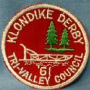 Boy Scouts America Patch 1961 KLONDIKE DERBY - collectible