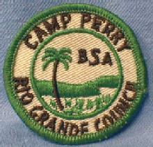 Boy Scouts Americe Camp Perry Patch RIO GRANDE COUNCIL - collectible