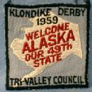 Alaska Boy Scouts America 1959 Klondike Derby Patch - WELCOME ALASKA OUR 49th STATE - Collectible