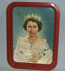 QUEEN ELIZABETH II Tin Coronation Tray - Metalware