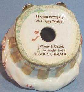 Colorful Beatrix Potter's MRS TIGGY WINKLE Porcelain Figurine