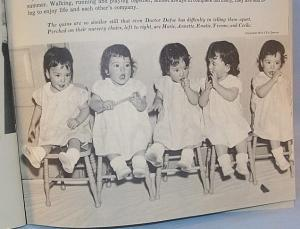 The Dionne Quintuplets WE'RE TWO YEARS OLD Whitman Story Book - Paper