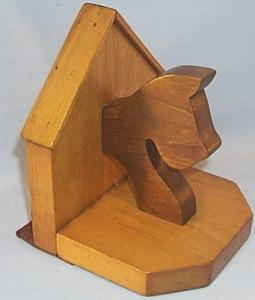 Single Wooden SCOTTIE DOG Bookend - Misc.