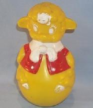 Bright Yellow Plastic Musical ROLY POLY LAMB - Toys