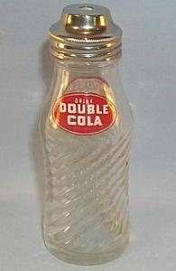 DOUBLE COLA Advertising Glass Vinegar Shaker Bottle