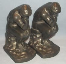 NUART Grey Metal THINKER Bookends - Metalware
