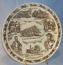 Vernon Kilns HISTORIC SAINT AUSGUSTINE Commemorative Pottery Plate
