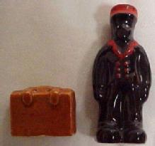 BLACK Porter Salt Pepper Suitcase - Ethnographic