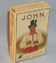 JOHN Cigar Box with Original Insert - Ethnographic