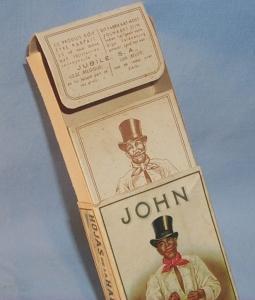 JOHN Cigar Box with Original Insert - Ethnographic