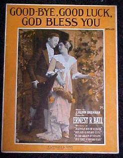 Sheet Music - Good-Bye, Good Luck, God Bless You - Paper