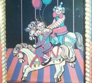 Animated Wind Up CLOWN ON HORSEBACK Musical Box - Toys
