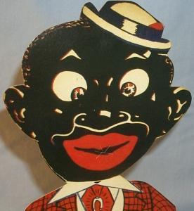 SMOKING SAMBO Free Standing Advertising Cardboard Figure - Ethnographic