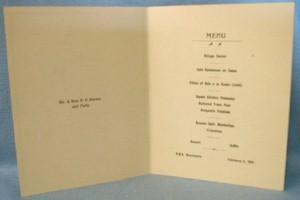 nautical  1934 Cunard Steamship MENU Line  RMS MAURETANIA Cruise Ship Menu - paper