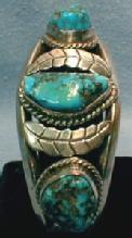 Navajo Turquiose Pawn Bracelet - Sterling Silver Ethnographic Jewelry