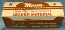 old  Fly Fishing Leader - Mason Super Soft Monofilament Leader Material -  Sporting