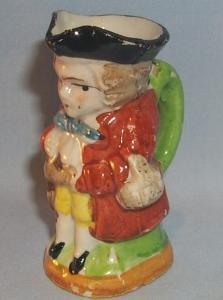 Occupied Japan STANDING MAN Porcelain Toby Mug