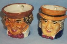 Two OCCUPIED JAPAN Porcelain Character Jugs