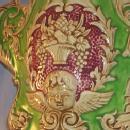 Colorful WINGED CHERUB Porcelain Wall Pocket