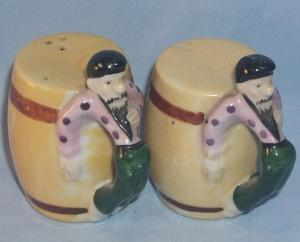 Gypsy Handled Porcelain Salt and Pepper Shakers