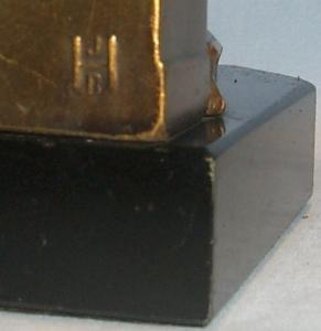 JB Hirsch LIBRARIAN Gray Metal Bookend on Black Granite Base - Metalware