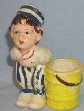 Dutch Boy Porcelain Figurine Toothpick Holder
