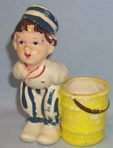 Dutch Boy Porcelain Figurine Toothpick Holder