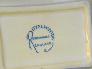 ROYAL WINTON Yellow Canada Souvenir Dish - Pottery