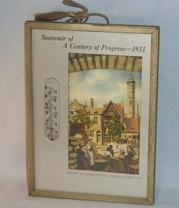Souvenir Thermometer A CENTURY OF PROGRESS - 1933 World's Fair - Misc.