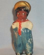 Bisque Porcelain Black Dutch Boy Figurine - Ethnographic