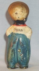 Bisque Porcelain Black Dutch Boy Figurine - Ethnographic