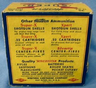 Western SUPER X Shotgun Shell Box w/Paper Shells - Sporting Advertising