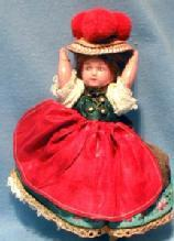 old Marcie girl Doll - German Souvenir Doll - Vintage Ethnographic Toy