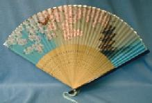 Oriental  Hand FAN - 1950s Wood Misc Ethnographic