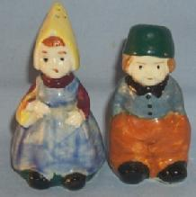 DUTCH COUPLE Porcelain Salt and Pepper Shakers