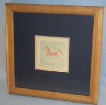 Signed & Numbered ROCKINGHORSE Embossed Art Work in Frame - Works of Art