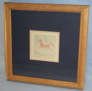 Signed & Numbered ROCKINGHORSE Embossed Art Work in Frame - Works of Art